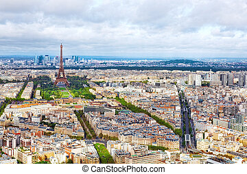 france(district, パリ, パノラマ, montparnasse, tower.