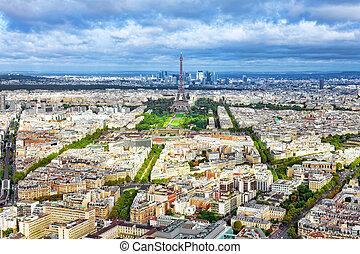 france(district, parís, panorama, montparnasse, tower.