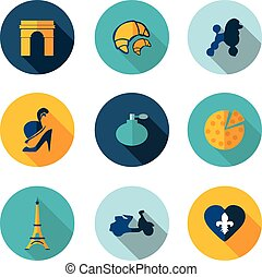 France,icons in vector format