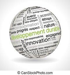 francese, sviluppo sostenibile, tema, sfera, con, keywords