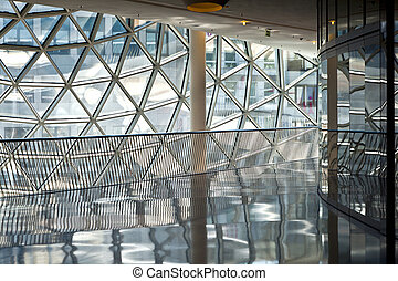 francfort, centre commercial, futuriste