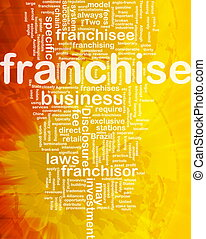 Franchise background concept - Background concept wordcloud ...