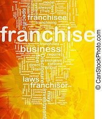 Franchise background concept - Background concept wordcloud...