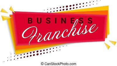 Franchise Banner Template Design. Vector Illustration.