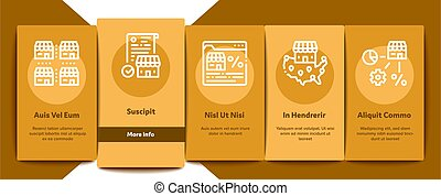 Franchise Business Onboarding Elements Icons Set Vector - ...