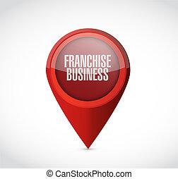 franchise business pointer sign illustration design over white