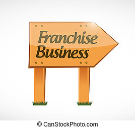 franchise business wood sign illustration design