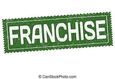 franchise, caoutchouc, grunge, timbre