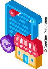 franchise contract agreement isometric icon vector ...