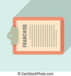 Franchise description icon, flat style - Franchise ...