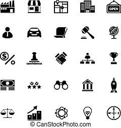 franchise, fond blanc, icônes