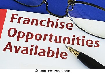 Franchise opportunities concept of new business ...