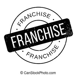 Franchise rubber stamp. Grunge design with dust scratches. ...