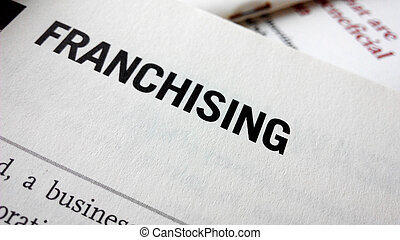 franchising, palabra, en, un, book.