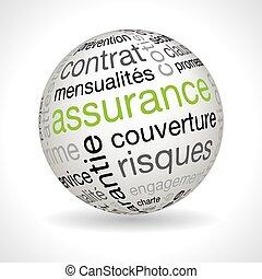 francia, biztosítási kötvény, téma, gömb, noha, keywords