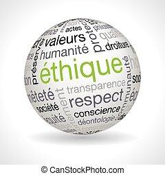francia, etika, téma, gömb, noha, keywords