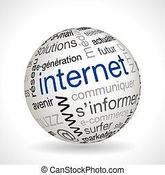 francia, internet, téma, gömb, noha, keywords