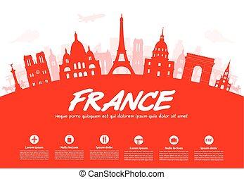 francia, parís, viaje, landmarks.