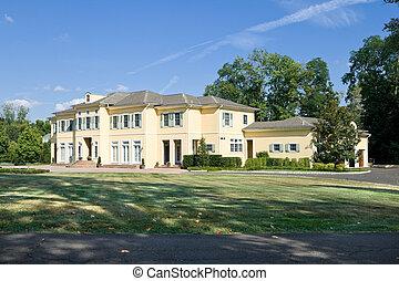 francia, philadelphia, pennsylvania, külvárosi, új, vidéki, egyes család, otthon, pa., style.