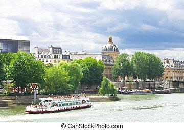 francia, placer, jábega, barco,  parís
