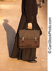 francia, prete, strada, dettaglio, parigi