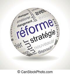 francia, reform, téma, gömb, noha, keywords