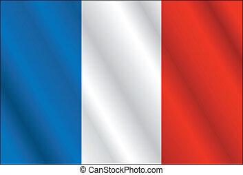 Mappa Colorare Paese Astratto Bandiera Francia Colorato Nazionale