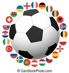 franciaország, futball játék, nemzeti, brigád