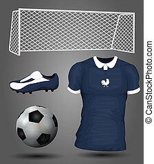 franciaország, futball, mez