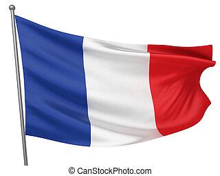 franciaország, nemzeti lobogó