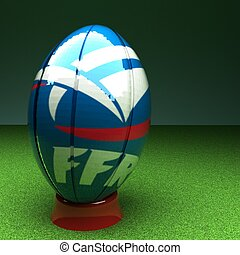 franciaország, rugby labda