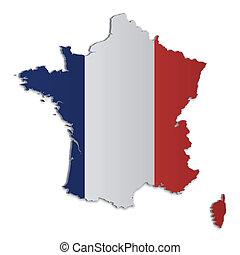 franciaország, térkép, 2