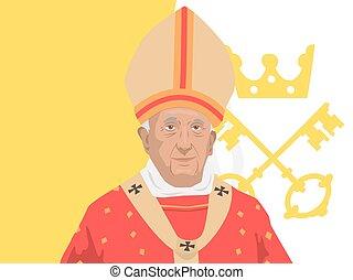 francis, ローマ法王, イラスト