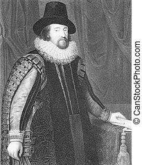Francis Bacon (1561-1626) on engraving from the 1800s....