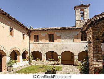 franciscan, コロンボ, 回廊, fonte, rieti, 修道院