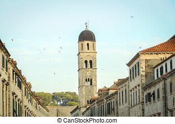 franciscan, 修道院, タワー, 教会 鐘