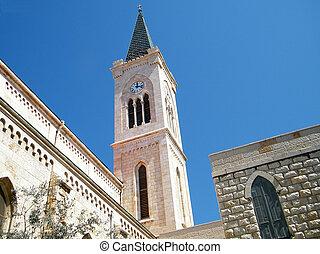 franciscan, jaffa, タワー, 2011, 教会