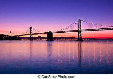 francisco, bahía, san, puente, california.
