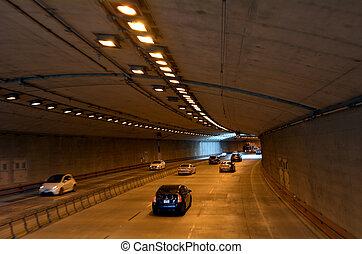 francisco, san, -, tráfego, califórnia, parkway, túneis