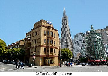 francisco, san, usa, -, piramide, californië, transamerica