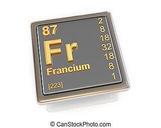 Francium. Chemical element.
