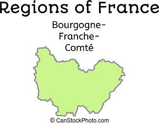francja, administracyjny, mapa, od, boufrncomte