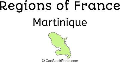 francja, administracyjny, mapa, od, martynika