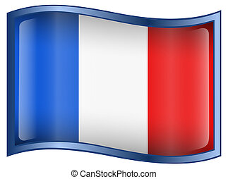 francja bandera, ikona