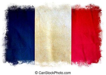francja, grunge, bandera