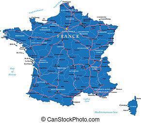 francja, mapa