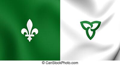 Franco-Ontarian Flag - Franco-Ontarian 3D Flag. Ontario,...
