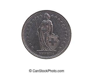 franco svizzero, moneta