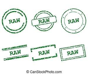 francobolli, crudo
