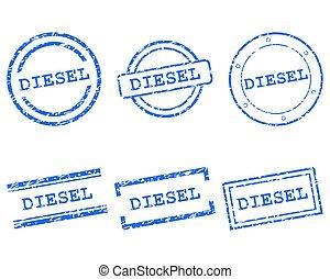 francobolli, diesel